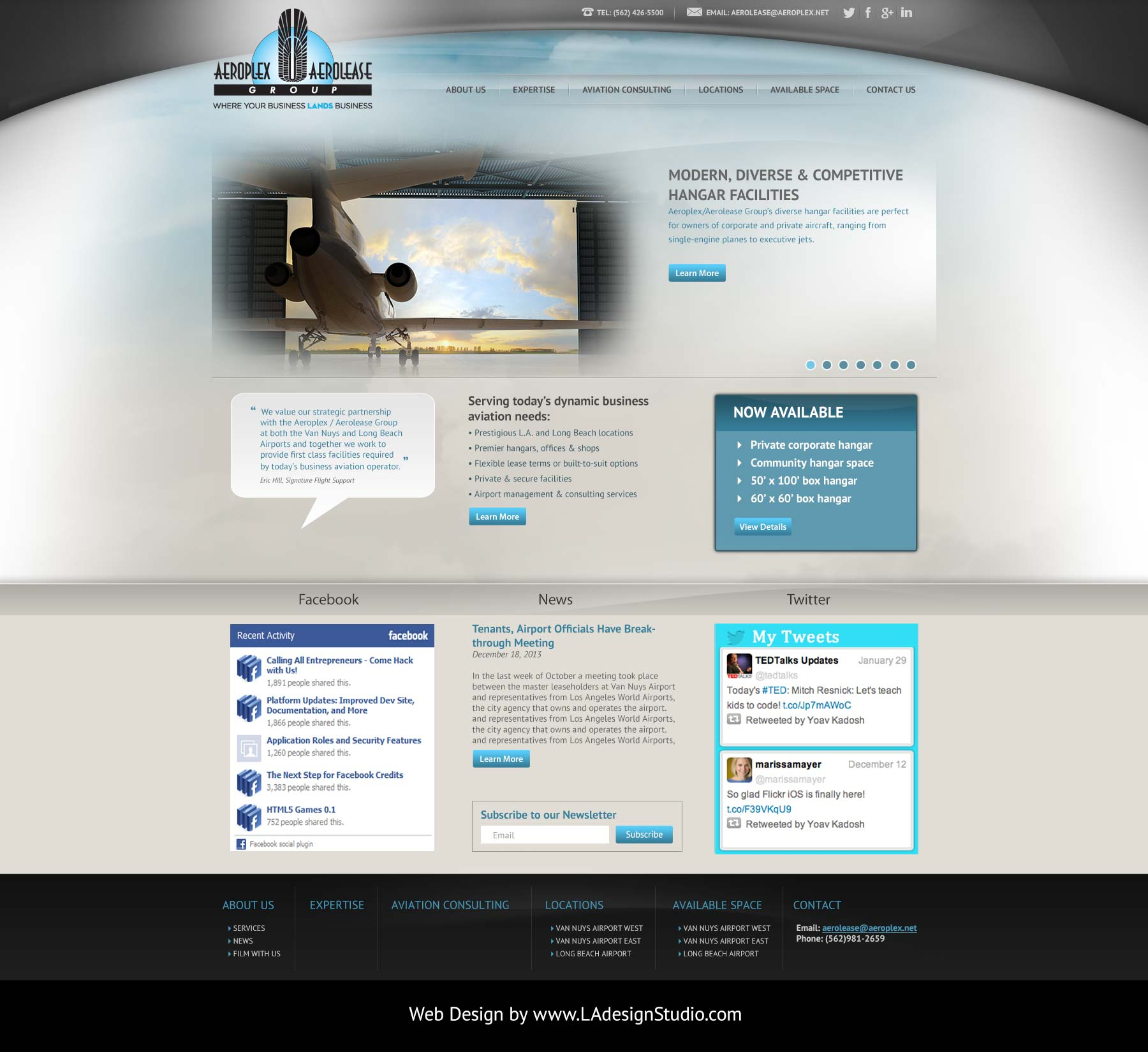 Web Design for Aviation Industry